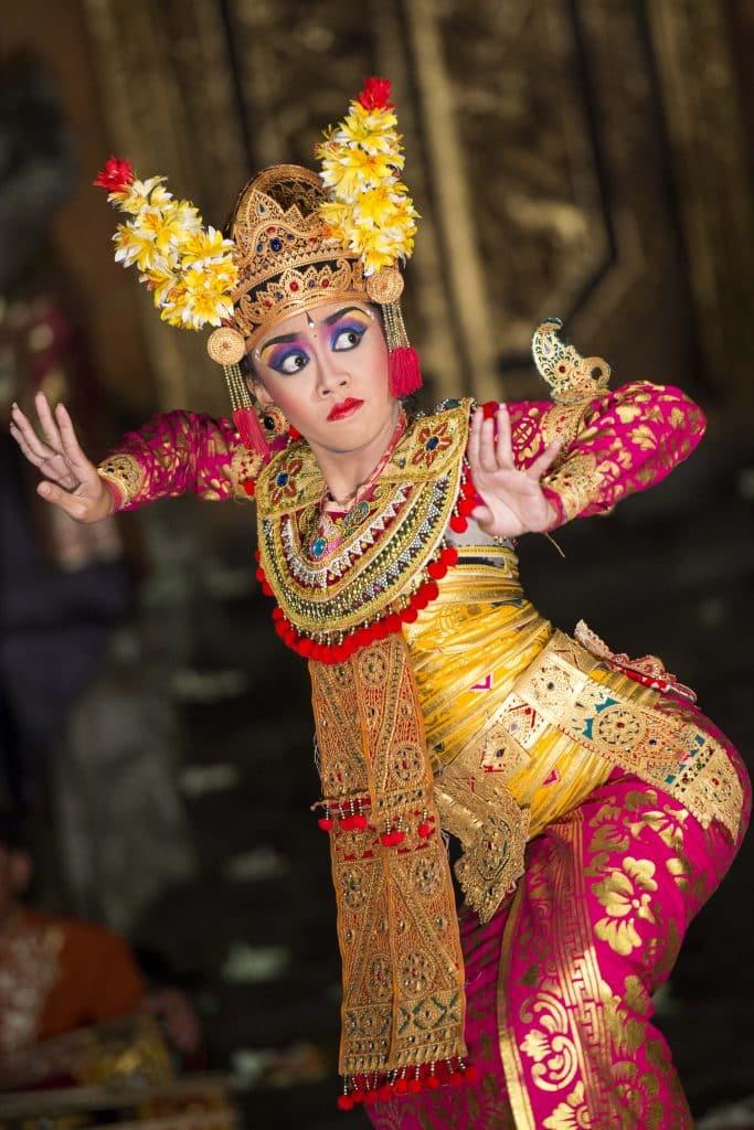Legong and Barong dances, traditional music performances